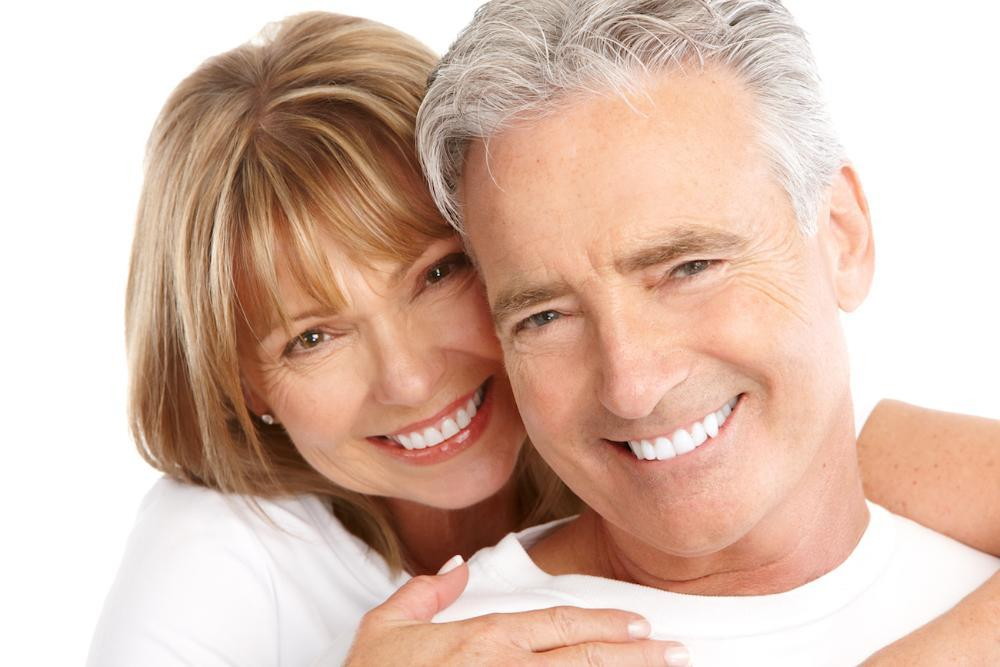 couple smiling after cosmetic dentistry service in hershey