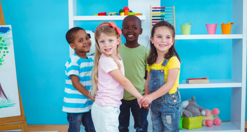 Children stand in a class room | Children's Dentistry Hershey PA