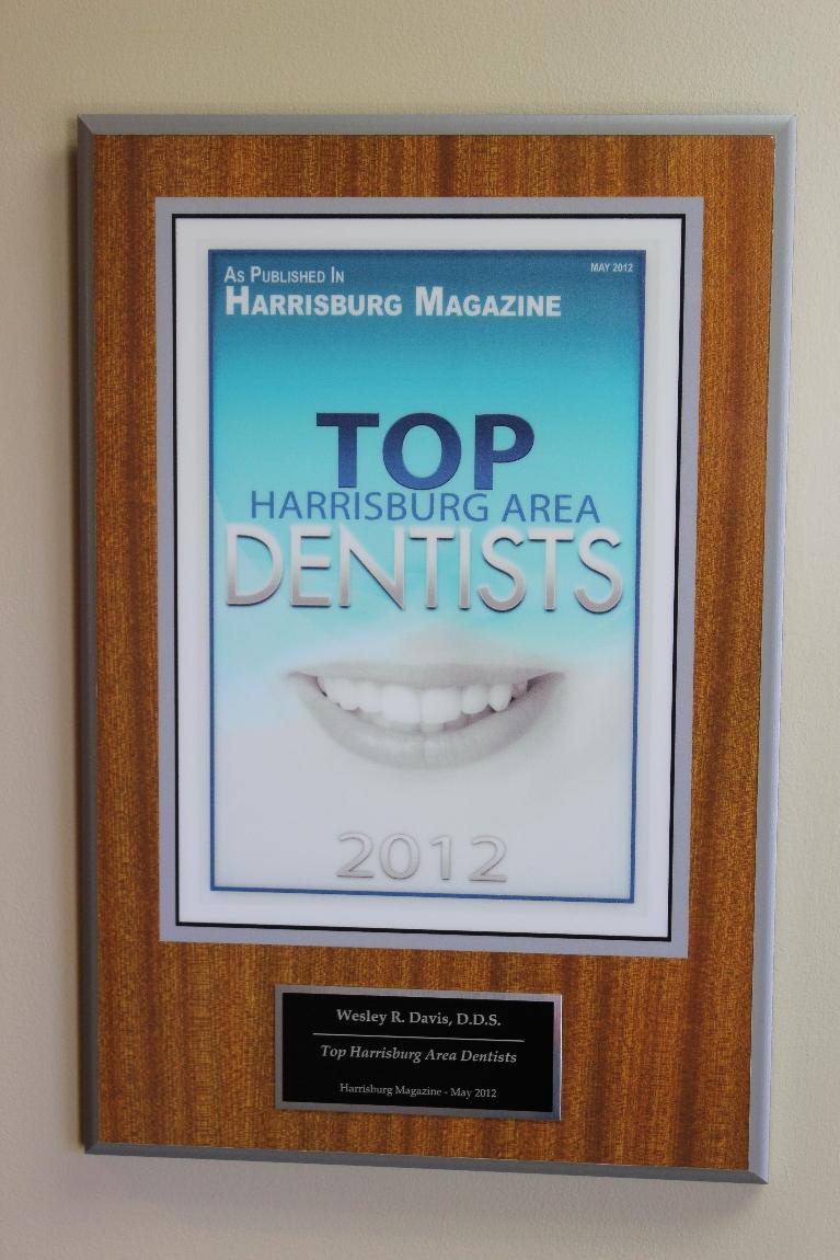 image of a Top Dentist award in the Harrisburg area | Hershey PA